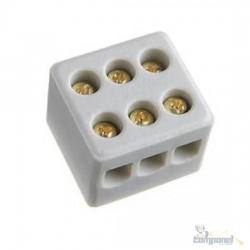 Conector Sindal Porcelana 3 Polos 16mm